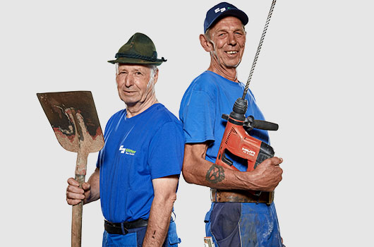 2 Lager-Mitarbeiter von Sitter-Bau