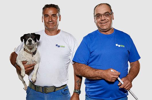 2 Mitarbeiter von Sitter-Bau Pflasterarbeiten