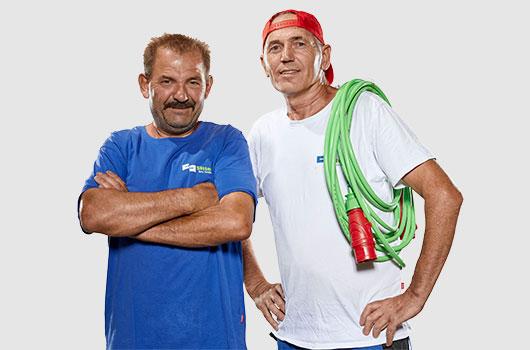 2 Mitarbeiter von Sitter-Bau Sanierung