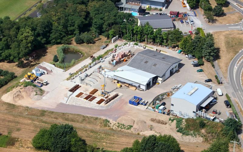 Standort Sitter Bau Berg (Pfalz) - Bild von oben